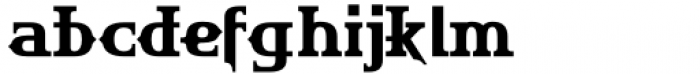 HU The Game Latin Semi Bold Font LOWERCASE