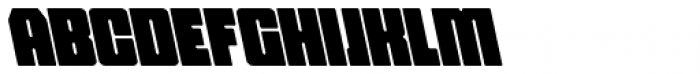 Hubba Semi Bold Op Oblique Font UPPERCASE