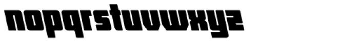 Hubba Semi Bold Op Oblique Font LOWERCASE