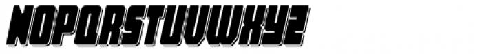 Hubba Shadow Oblique Font UPPERCASE