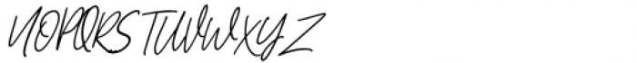 Hughson Alt Italic Font UPPERCASE
