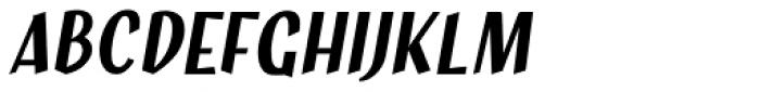 Hujan Italic Font UPPERCASE