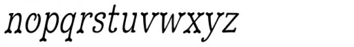 Hulbert Condense Oblique Font LOWERCASE