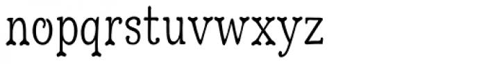 Hulbert Condense Font LOWERCASE