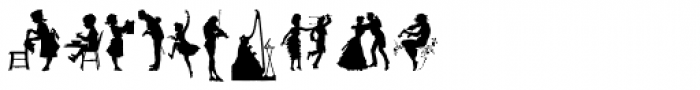 Human Silhouettes Three Font OTHER CHARS