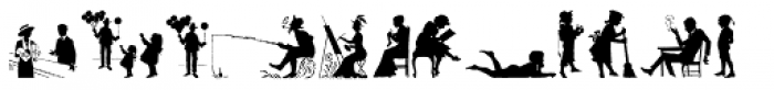 Human Silhouettes Three Font UPPERCASE