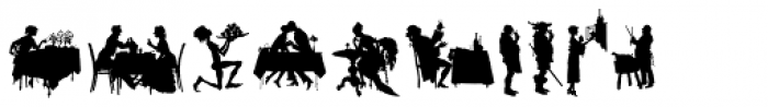 Human Silhouettes Two Font OTHER CHARS