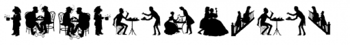 Human Silhouettes Two Font UPPERCASE