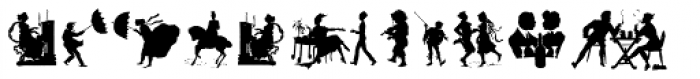 Human Silhouettes Two Font LOWERCASE