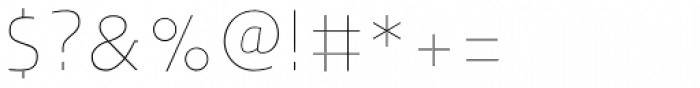 Humanex UltraLight Font OTHER CHARS