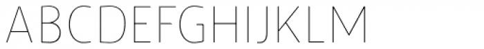 Humanex UltraLight Font UPPERCASE