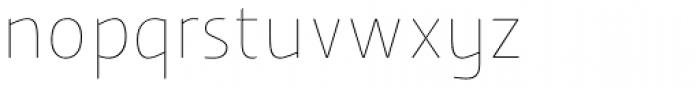 Humanex UltraLight Font LOWERCASE
