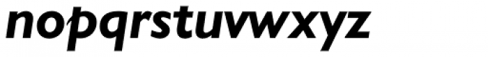 Humanist 521 BT Bold Italic Font LOWERCASE