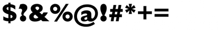 Humanist 521 ExtraBold Font OTHER CHARS