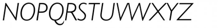 Humanist 521 Light Italic Font UPPERCASE