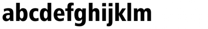 Humanist 777 Black Condensed Font LOWERCASE