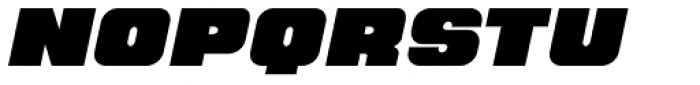 Hunk Italic Font UPPERCASE
