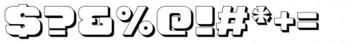 Hunk Outline Font OTHER CHARS