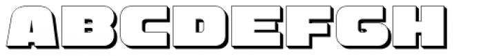 Hunk Outline Font UPPERCASE