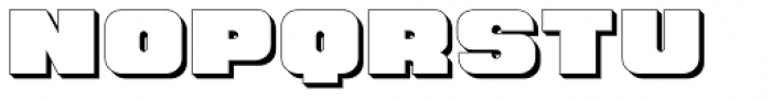 Hunk Outline Font LOWERCASE