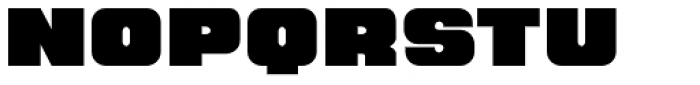 Hunk Font UPPERCASE