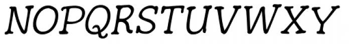 Hunniwell Light Italic Font UPPERCASE