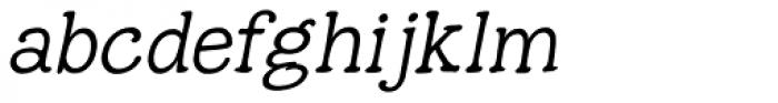 Hunniwell Light Italic Font LOWERCASE