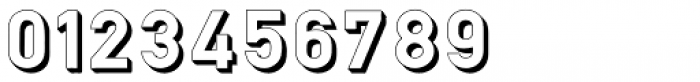 Hurley 1967 3D Font OTHER CHARS