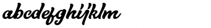 Hurley 1967 Script Bold Alt Font LOWERCASE