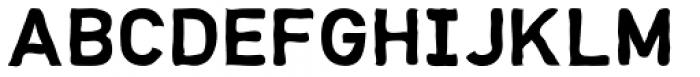Hurley Sans Rough Font UPPERCASE