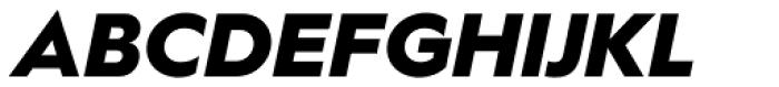 Hurme Geometric Sans 1 Black Obl Font UPPERCASE