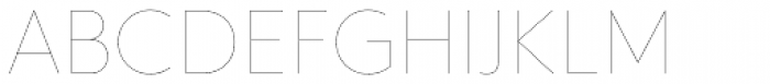 Hurme Geometric Sans 1 Hairline Font UPPERCASE