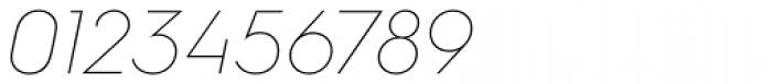 Hurme Geometric Sans 1 Thin Obl Font OTHER CHARS