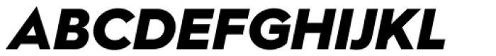 Hurme Geometric Sans 2 Black Obl Font UPPERCASE