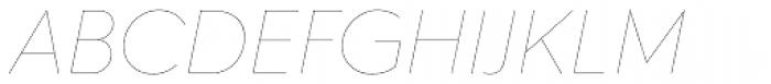 Hurme Geometric Sans 2 Hairline Obl Font UPPERCASE