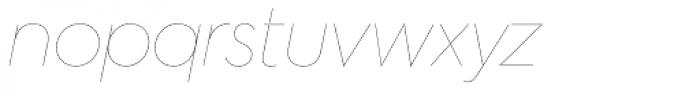 Hurme Geometric Sans 2 Hairline Obl Font LOWERCASE