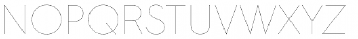 Hurme Geometric Sans 2 Hairline Font UPPERCASE
