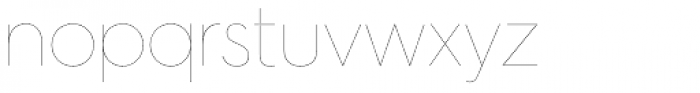 Hurme Geometric Sans 2 Hairline Font LOWERCASE