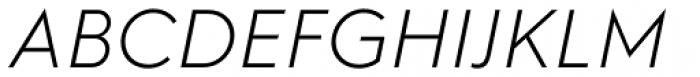 Hurme Geometric Sans 2 Light Obl Font UPPERCASE