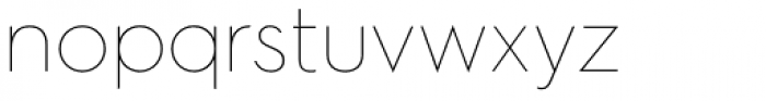 Hurme Geometric Sans 2 Thin Font LOWERCASE