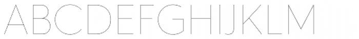 Hurme Geometric Sans 4 Hairline Font UPPERCASE