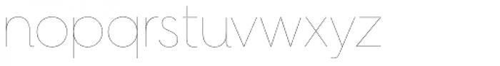 Hurme Geometric Sans 4 Hairline Font LOWERCASE