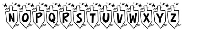 Hurrah Dreidle BTN Font UPPERCASE