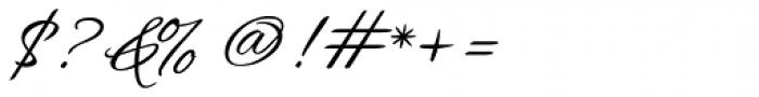 Hurricane Script Font OTHER CHARS