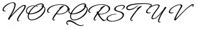 Hurricane Script Font UPPERCASE