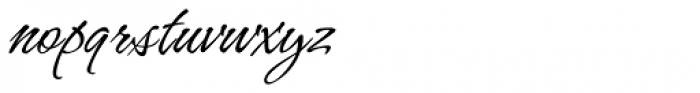Hurricane Script Font LOWERCASE