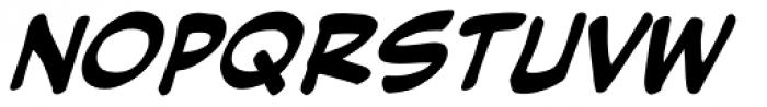 Hush Hush Bold Italic Font UPPERCASE