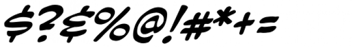 Hush Hush Italic Font OTHER CHARS