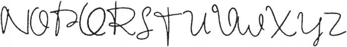 HV Autograph otf (400) Font UPPERCASE