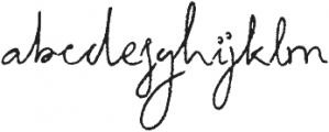 HV Autograph otf (400) Font LOWERCASE